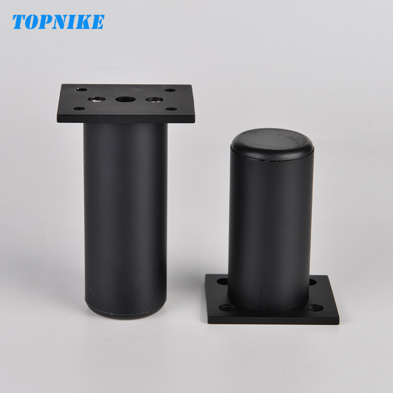 TOPNIKE 4 Pieces Black Customized Height Kitchen Cabinet Foot SupACport Bed Foot Adjustable TV Cabinet Legs Aluminum Alloy