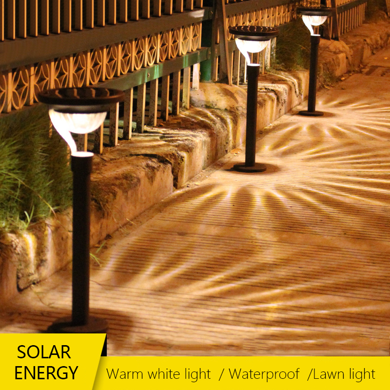 Waterproof IP65 LED Solar Outdoor Ground Lamp Landscape Yard Lawn Lighting Home Solar Garden Street Light Decoration