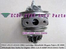 Turbo CHRA Cartridge Turbocharger Core TF035 49135-03411 49135-03410 For Mitsubishi Shogun;Pajero III 2000-06 4M41 3.2L D 160HP