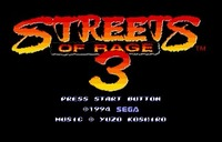 Streets Of Rage 3 - Sega Mega Drive For Genesis 1