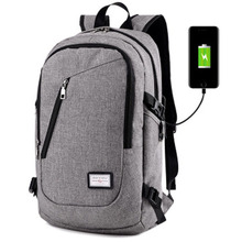 купить 2017 New Fashion Canvas Men's Backpacks Women Travel Bag Student Backpack USB School Bags For Teenagers Backpack Famous Brand по цене 1014.74 рублей