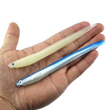 цена 5pcs/lot 6.3g 14cm Eel Soft Fishing Lure Pesca Peche Tackle Wobblers Fish Lures Carp Leurre Souple Soft baits Dropshipping онлайн в 2017 году
