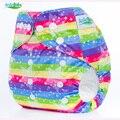 AnAnBaby Reusable Baby Nappies Washable & Waterproof Baby Cloth Diaper Carton Prints P Series