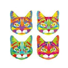 4Pcs/Set Lovely Cat Patch Iron On Clothes T-Shirt DIY Decoration A-Level Washable 2018 New Parches Ropa Applique