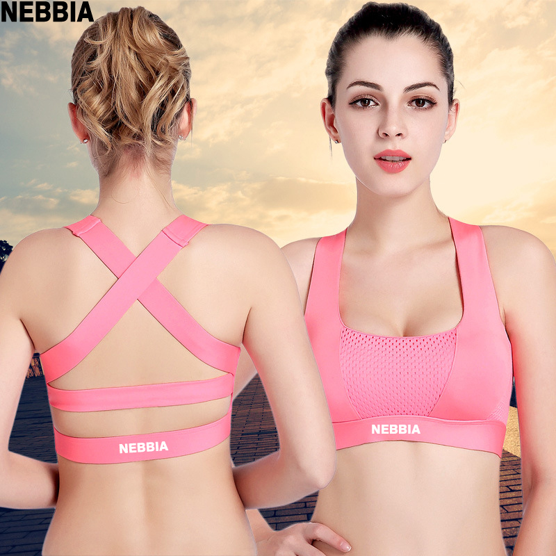 NEBBIA Women Workout Stretch Tank Top Yoga Padded Vest Sport Bra Tops Racerback