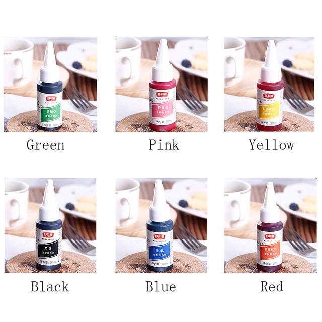 Online Shop Transhome Food Coloring 6 Colors Available Food Coloring ...
