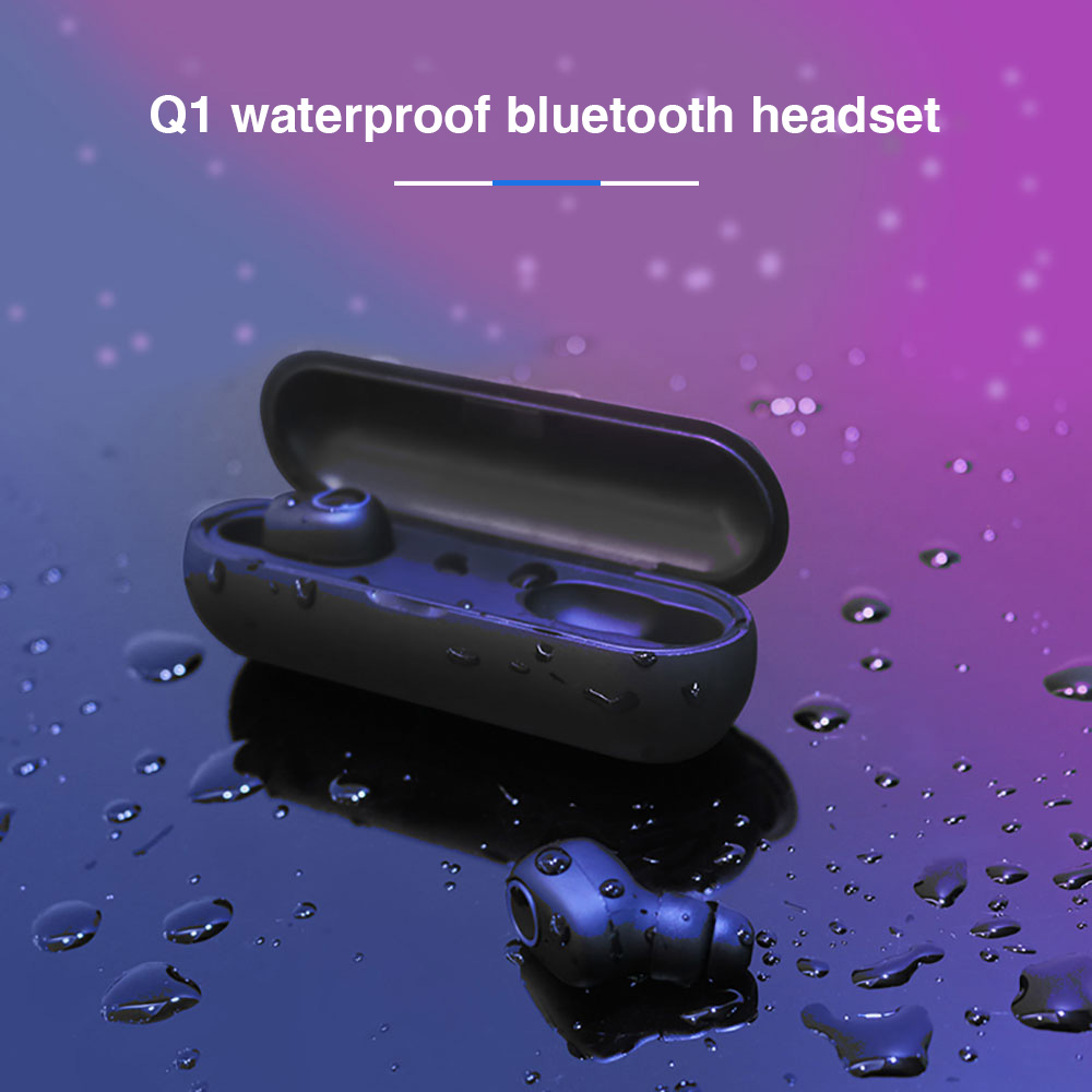 KISSCASE TWS Wireless Bluetooth Earphone Waterproof Stereo Headset With Charging Box Game Sport Earphone For iPhone 7 8 XS XR image
