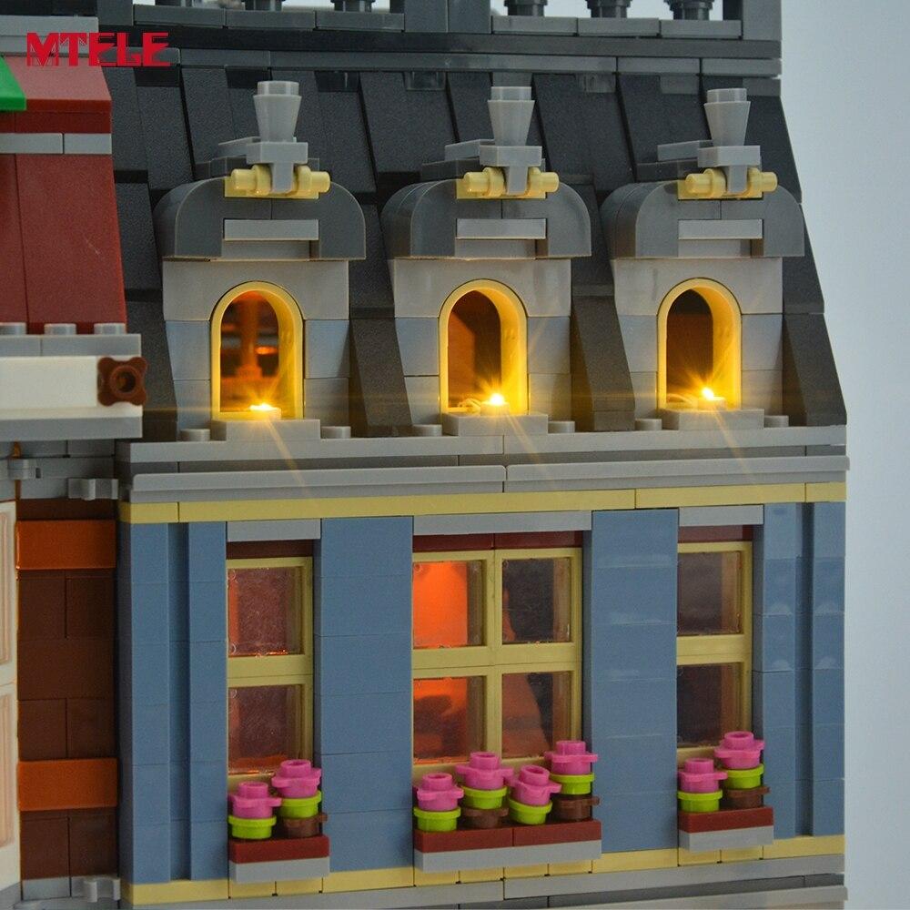MTELE Merek LED Light Up Kit Untuk Pet Shop Supermarket Cahaya Set - Mainan bangunan dan konstruksi - Foto 4