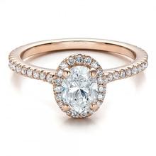 LASAMERO Simulated Diamond Solid 9k Gold Jewelry Yellow Gold Engagement Wedding Ring ASCD Simulated Diamond Ring