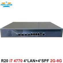 Intel Z87 Quad Core i7 4770 3.4G Rack mount 1U Firewall Server with 4 Ports 4*1000M 82574L Gigabit Nics 4* intel i350 SFP
