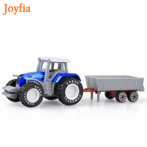 Image 5 - 4 Types Boys Farm Truck Toy Vehicles Engineering Truck Car Models Tractor Trailer Toys Model Car Toy Collectible Car For Kids#