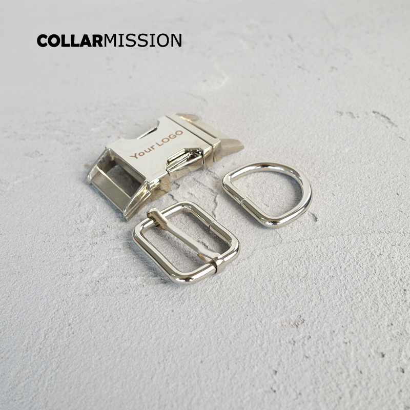 20sets lot metal buckle adjust buckle D ring set laser engraving name customize LOGO high quality