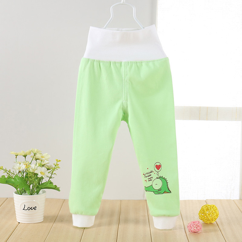 New Spring And Autumn Baby Boy And Girls Pants Quality Children High Waist Trousers Cotton Kids Pant Kids Leggings Socks Retail