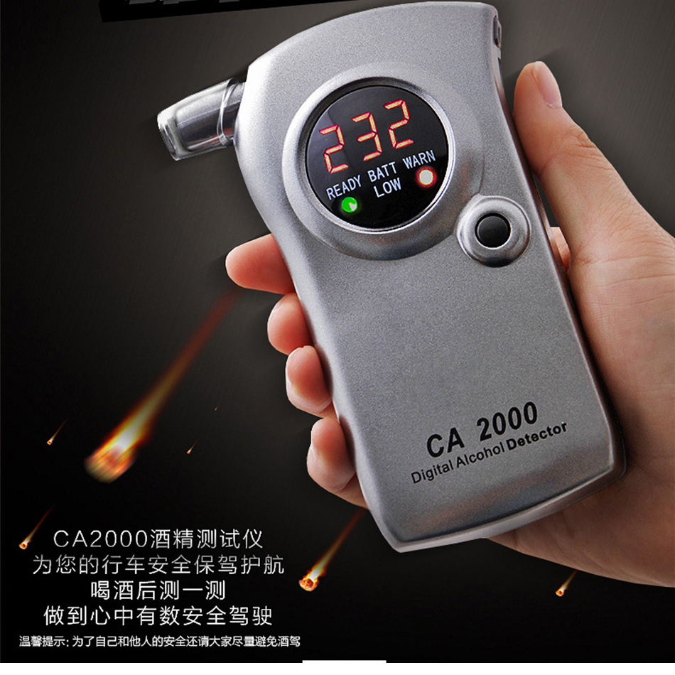 CA2000 Digital Alcohol Meter Tester Detector Drunkometer Breathalyzer Wine Breath Checker Finder Monitor With Car Charger кастрюля oursson ca 2000 p bb