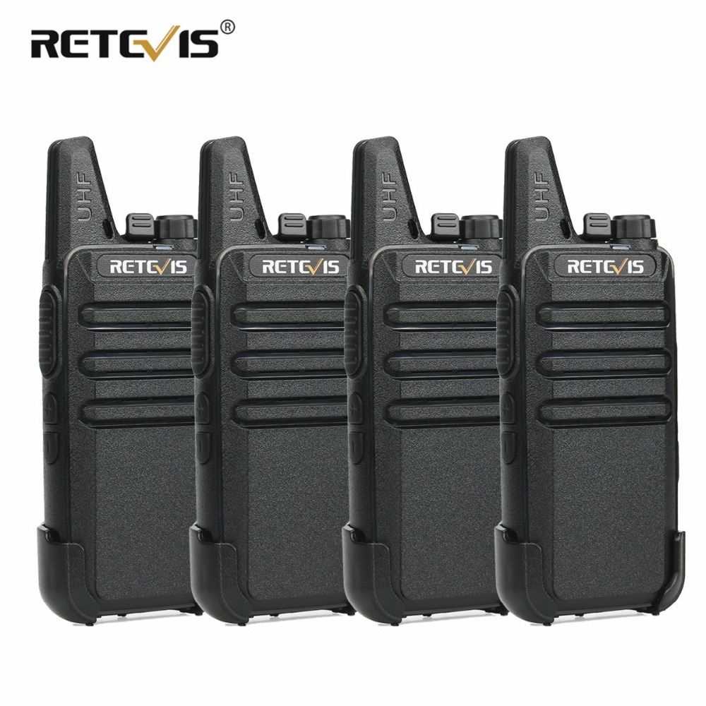 4 pz Retevis RT22 Mini Walkie Talkie 2 w UHF 400-480 mhz CTCSS/DCS VOX Two Way stazione Radio Walkie Talkie Ricetrasmettitore Comunicador