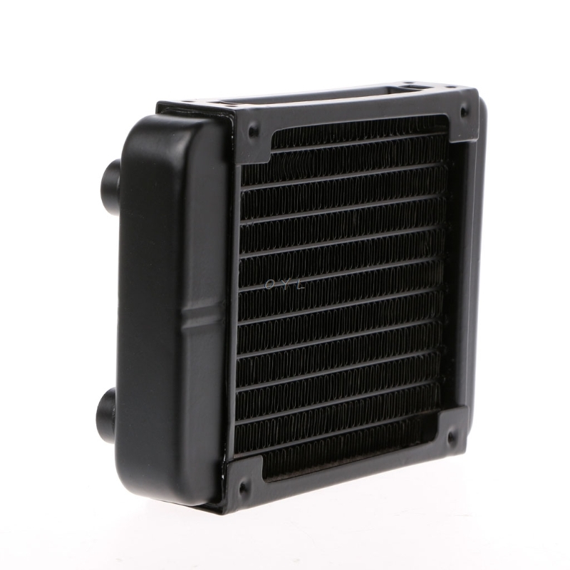 Water Cooling <font><b>Cooler</b></font> 120mm Aluminum Computer Radiator Water <font><b>Cooler</b></font> 18 Tube CPU Heat Sink Exchanger image