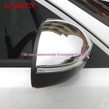 2 шт. автомобиль-Стайлинг боковой двери Зеркала заднего вида Кепки Отделка Декор ABS Chrome для Kia Optima K5 2016 2017 автомобилей аксессуары стикер
