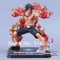 """Envío Gratis Anime de One Piece Portgas D Ace Batalla Ver. Puño de fuego Ace Acción PVC Figure Collection Modelo de Juguete 6 """"14 cm OPFG254"""