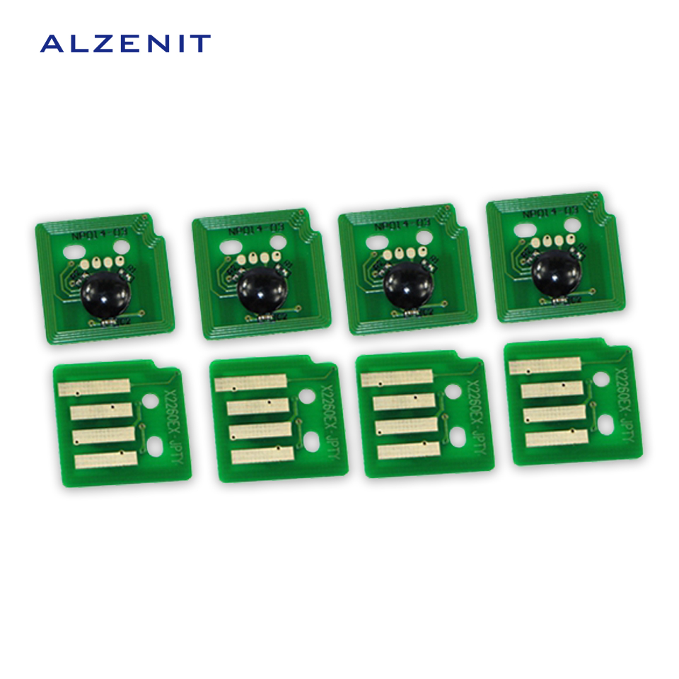 4Pcs ALZENIT For Xerox C2260 C2263 C2265 OEM New Drum Count Chip Four Color Printer Parts On Sale cs dx18 universal chip resetter for samsung for xerox for sharp toner cartridge chip and drum chip no software limitation