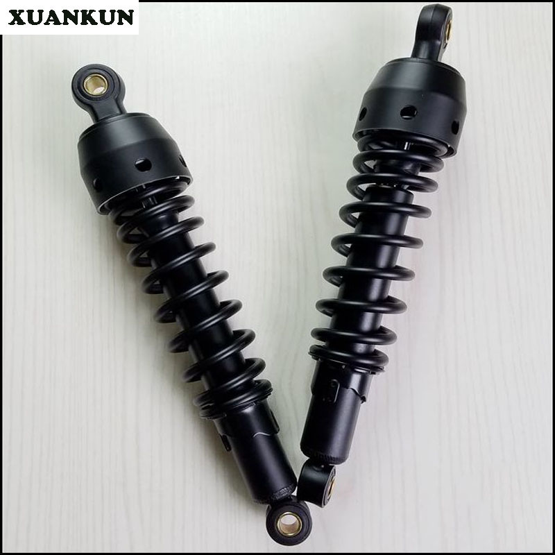 XUANKUN Cafe Racer Retro Motorcycle Modified 340mm Rear Shock Absorber xuankun cafe racer retro motorcycle modified long after the shock after the shock and lengthened 37 5