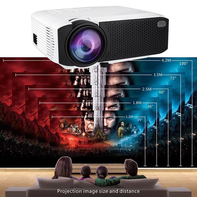 Projecteur haute résolution connecter un téléphone intelligent Durable pour le bureau de cinéma maison JLRL88
