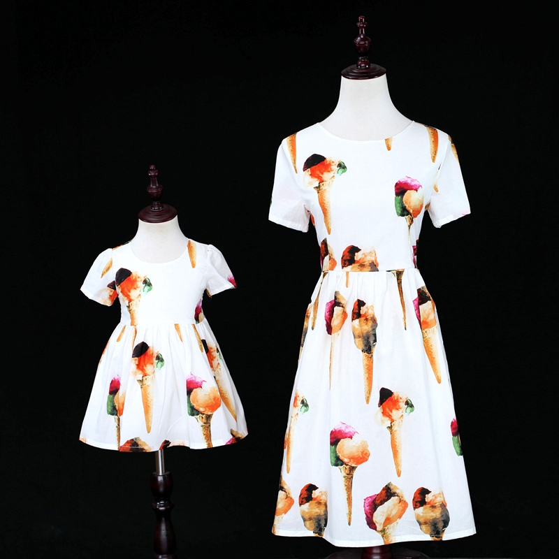 22b4400ab Family look mother daughter long dresses matching mother daughter ...