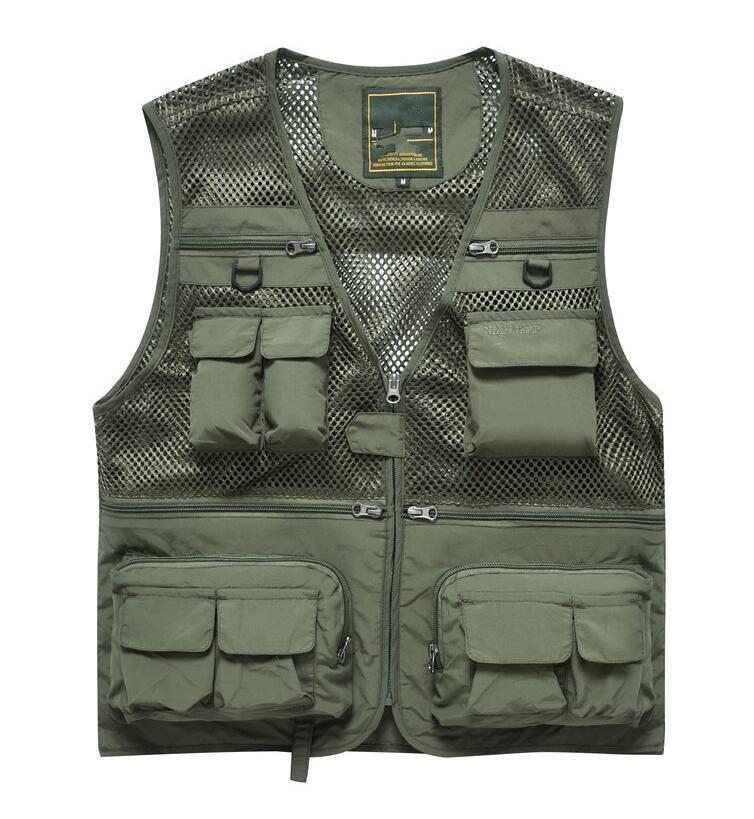 New Man Good Quality Hot sale Quick Drying Vest Men Outdoors Casual Waistcoat Men's sleeveless men's clothing Vest