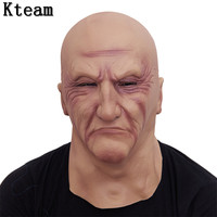 Halloween Party Cosplay Famous Man Face Mask Latex Party Real Human Face Mask Cool realistic Crossdress mask Old Man Fancy dress