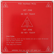 1PCS Red PCB Heated Heat bed heatbed MK2B Upgraded MK2A for Mendel for RepRap 3D Printer Support 12V 24V