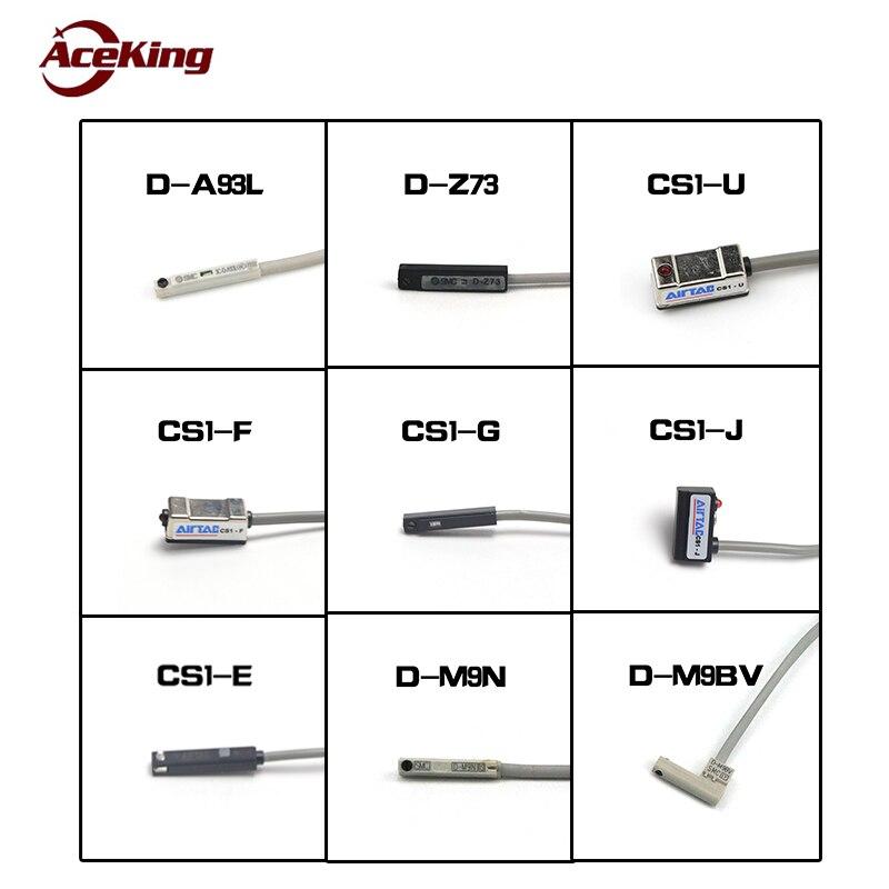 Tipo SMC interruptor magnético cs1-j/F/U/G/E sensor de cilindro d-z73/M9B/A93 /M9N 100mA válvula solenóide perto do interruptor de carga atual