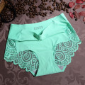 3 Pieces/lot Women  Lace Sexy Panties Bamboo Fiber Mid-waist Briefs Anti-Bacterial Breathable Ladies Girl's underpants 9896 9871