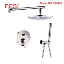 Bathroom Rainfall Shower Faucet Set Single Handle 2 ways Mixer Tap With 8/10/12 inch Rainfall Head Shower Wall Mounted,Chrome. стоимость