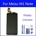 Tela de lcd para meizu m1 note tela novo display lcd + substituição da tela de toque de alta qualidade para meizu m1 note smartphones