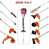 Multi GX35 4 strokes 9 in 1 Multi brush cutter grass trimmer lawn mower tree pruner tool garden work