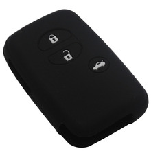 Car Silicone for Toyota Land Cruiser Camry Highlander Crown Prado Prius Car case key set jacket Cover case remote With Logo