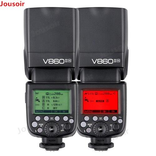 Godox Ving V860II V860II-N GN60 2.4g I-TTL HSS 1/8000 s Li-Ion Batteria Della Fotocamera Speedlite Flash per N fotocamere REFLEX Digitali CD50