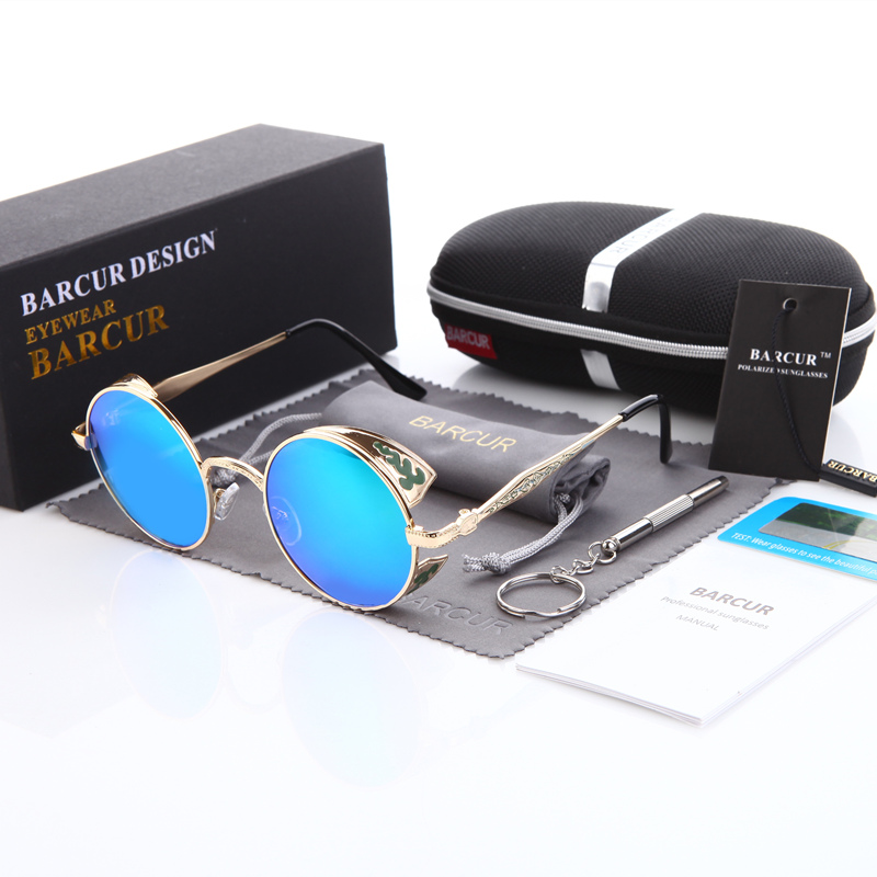 Retro Fashion Big Round Sunglasses Brand Designer Luxury Polarized UV400 High Quality oc ...