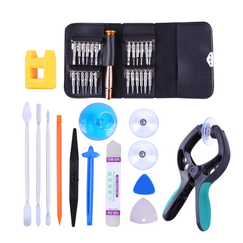 38 in 1 Mobile <font><b>Phone</b></font> Screen Opening Pliers Repair Tools Kit Screwdriver Pry Disassemble Set for iPhone Samsung Smartphone