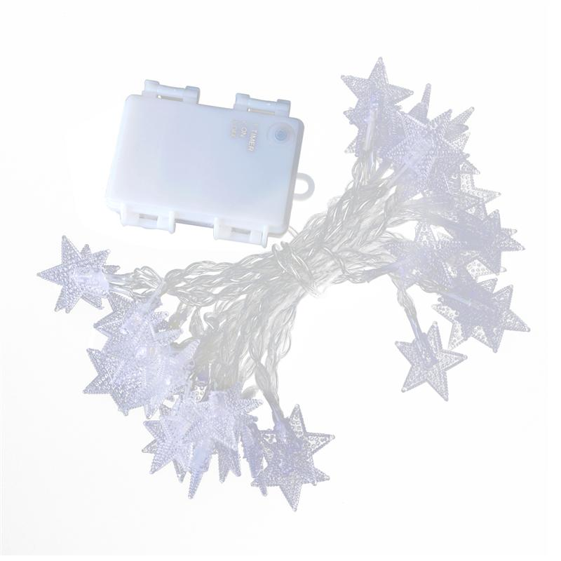 Fashion Waterproof 40 LED Five-Pointed Star Fairy Lights Battery Operated For House Outdoor Christmas Party Halloween Decoration