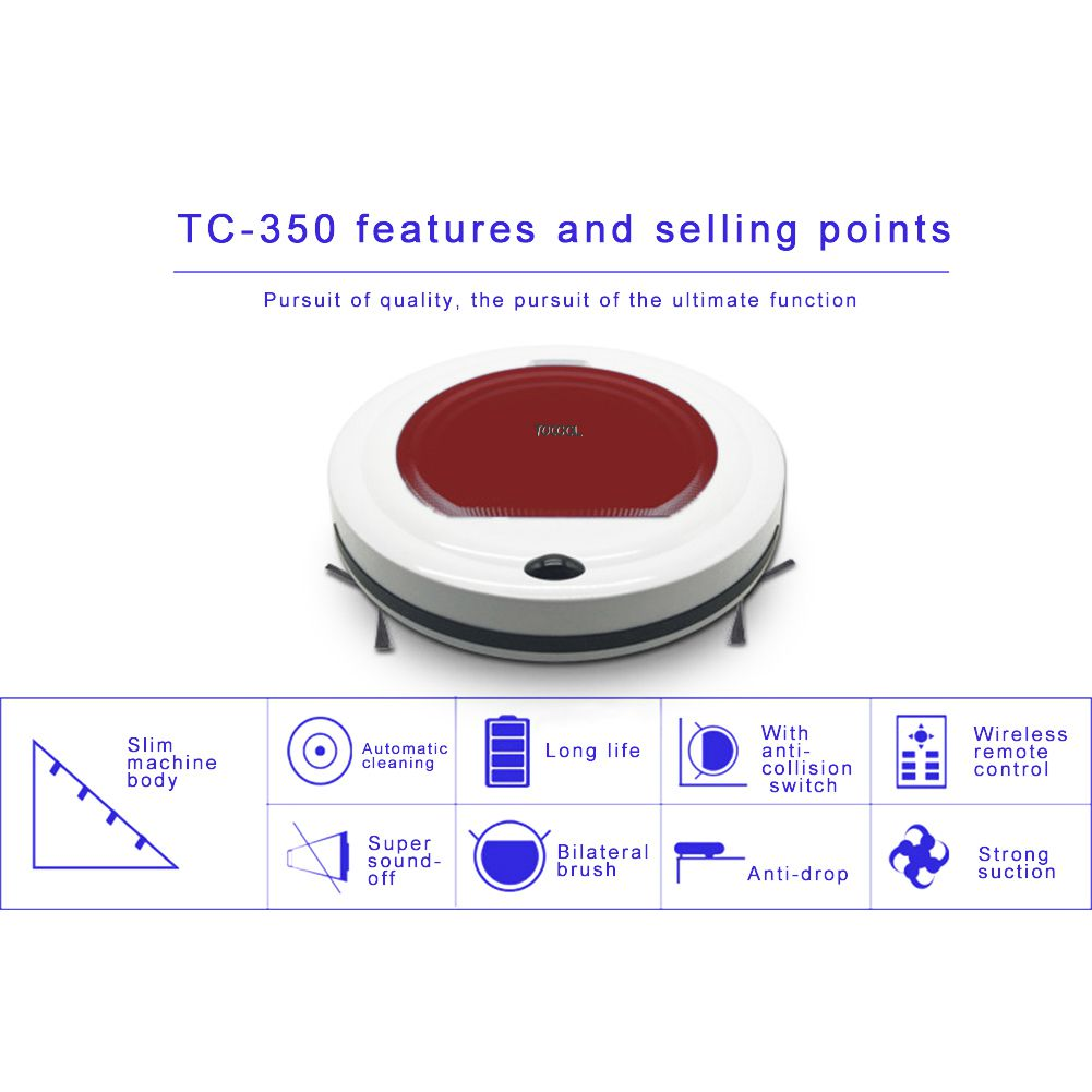 Robot Vacuum Cleaner With Self-Charge Ultrathin Fuselage Wireless Remote Control Dry & Wet Mopping for Wood Floor Gift