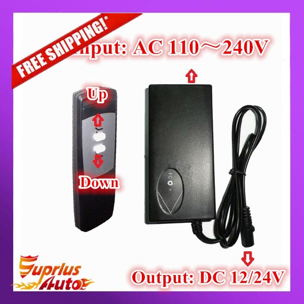 Wireless Controller 110 240V AC input 24V or 12V DC output with wireless hand switch remote