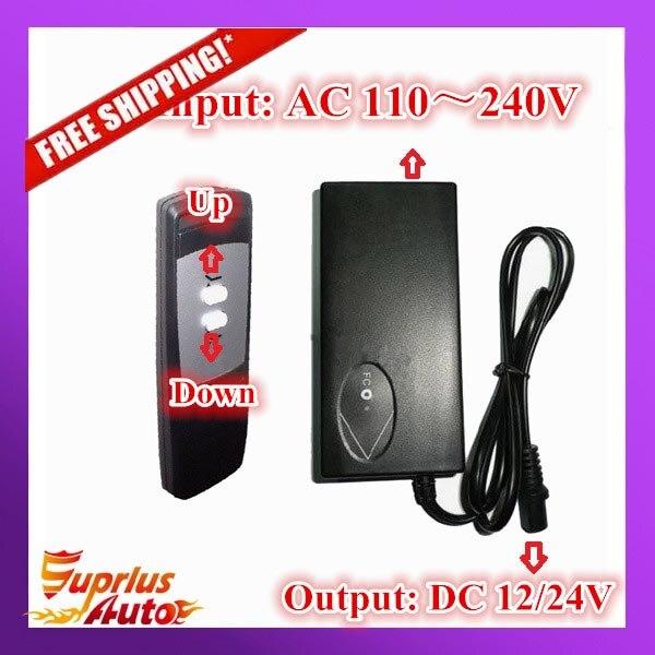 Sans fil Contrôleur 110-240 V AC entrée 24 V ou 12 V DC sortie avec sans fil main interrupteur à distance contrôle 1 pcs Linéaire Actionneur