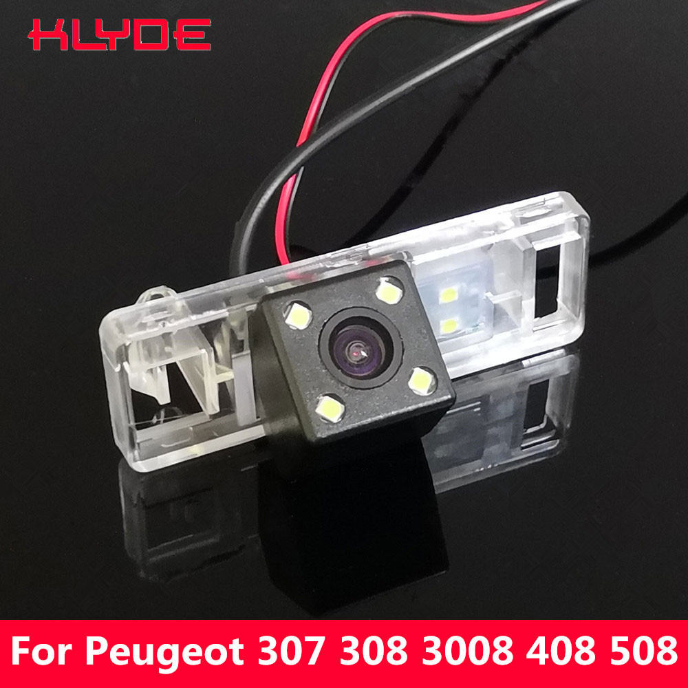 KLYDE Car CCD Rear View Reverse Night Vision Camera For Peugeot 307 307CC 308 308CC 3008 3008C 408 508/Lifan 520 X60 X80/Geely