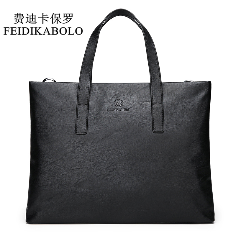 FEIDIKABOLO Famous Brand Men Bags Men's Business Briefcase Computer Laptop Handbag Bag Leather Messenger Bags Shoulder Bag Man