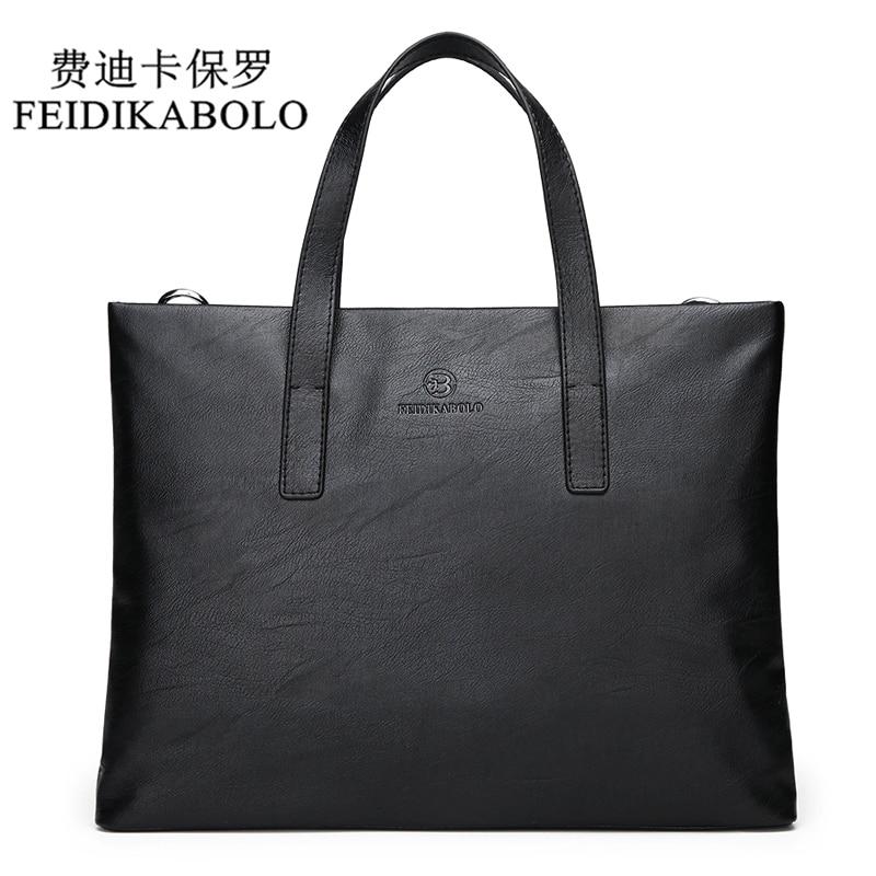 FEIDIKABOLO Famous Brand Men Bags Men's Business Briefcase Computer Laptop Handbag Bag Leather Messenger Bags Shoulder Bag Man