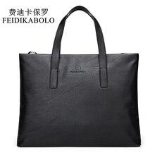 FEIDIKABOLO Famous Brand Men Bags Men's Business Briefcase Computer Lap