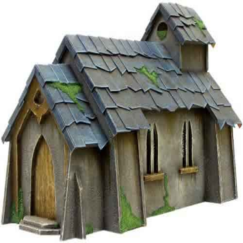 Log Cabin For Gloomhaven Church War Table Board Games Hammer PP Infinity TRPG Tabletop RPG Panel laser Cutting Basswood Wooden