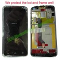 100% Original Tested For Huawei Ascend D1 U9500  Black LCD display +Touch screen Digitizer Panel + Frame complete +ship tracking