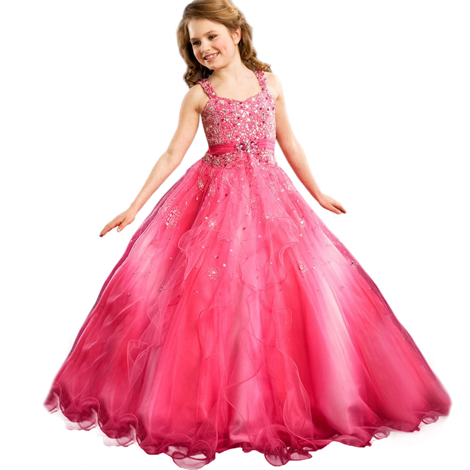 Glitz Red Little Girl Pageant Dress First Communion Gown Infant Dress Baby Long Beading Dresses Child Prom Gown 0-12 Year Old 15 color infant girl dress baby girl pageant dress girl party dresses flower girl dresses girl prom dress 1t 6t g081 4