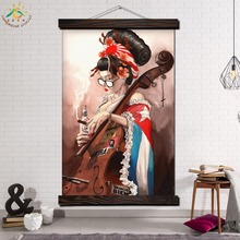 East Asia Kimono Bad Lady Modern Wall Art Print Pop Picture And Poster Frame Hanging Scroll Canvas Painting